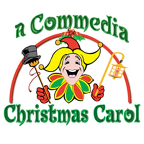 Picture of Commedia Christmas Carol, A cover art.