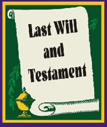 Picture of Last Will & Testament cover art.