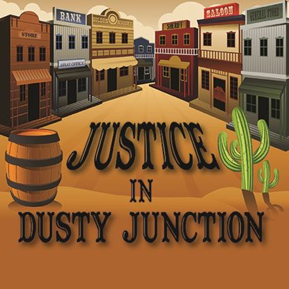 Picture of Justice In Dusty Junction cover art.