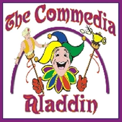 Picture of Commedia Aladdin cover art.