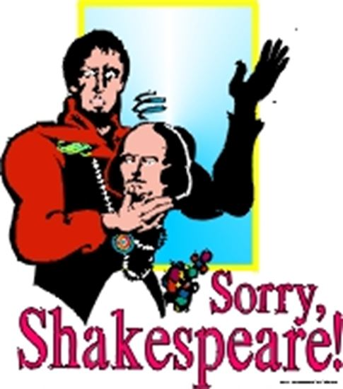Picture of Sorry, Shakespeare! cover art.
