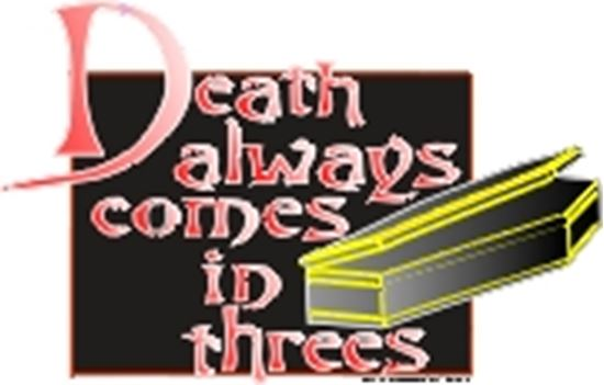 Picture of Death Always Comes In Threes cover art.