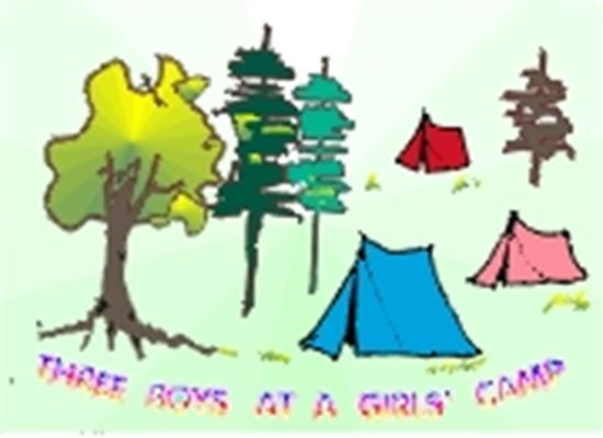 Picture of Three Boys At A Girls' Camp cover art.
